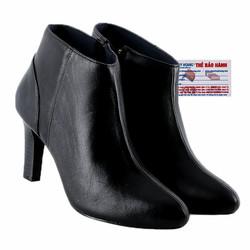 Giày boot nữ cột dây màu đen HS7920