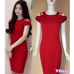 Đầm ôm tay con phối lưới Femi VD247 - V150