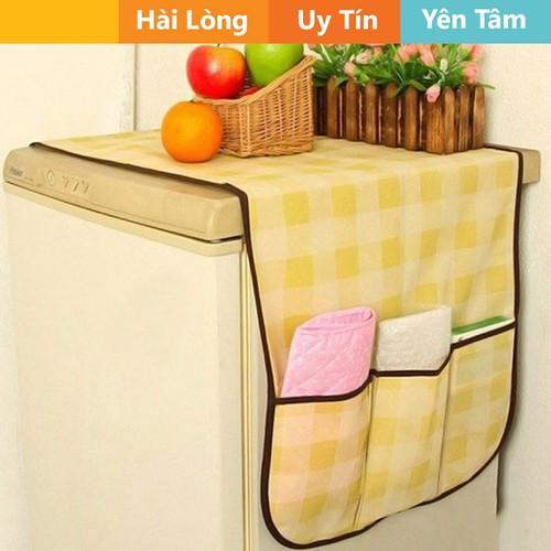 Tấm phủ tủ lạnh bằng vải có ngăn