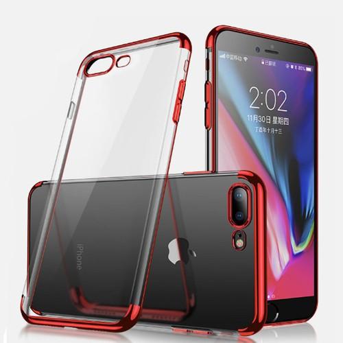 Ốp lưng trong suốt viền màu Iphone 7,8