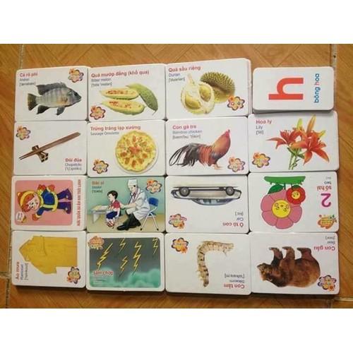 Bộ thẻ học 16 chủ đề 416 thẻ học thông minh cho bé