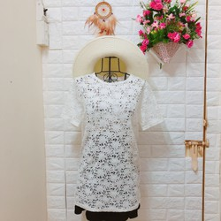 Thanh lí áo ren trắng form dài Korea