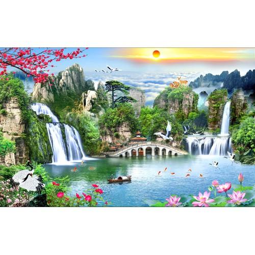 Tranh dán tường VTC Sơn thủy hữu tình STHT0002 KT 240 x 150 cm