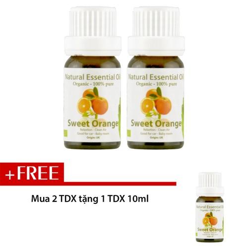 Combo 2 chai tinh dầu Aroma Cam Ngọt - Sweat Orange 10ml