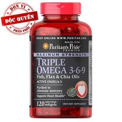 Viên uống đẹp da Premium Maximum Strength Triple Omega 3-6-9 120 viên