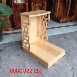 bàn thờ ông địa gỗ sồi - mẫu hiện đại cho nhà chung cư