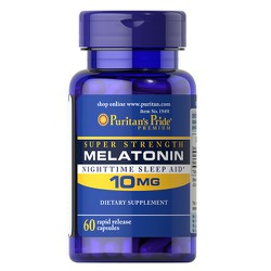 Viên uống Puritan Pride Melatonin NightTime Sleep Aid, 60 viên - 025077194919