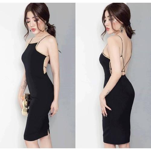 Đầm ôm body kiểu hở lưng cực tôn dáng