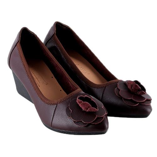 Giày nữ Huy Hoàng da bò 5 phân màu nâu đất SH3497