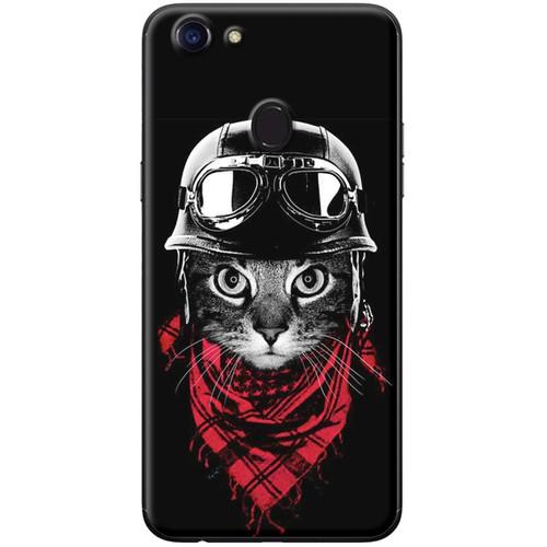 Ốp lưng nhựa dẻo Oppo F5 Mèo đen