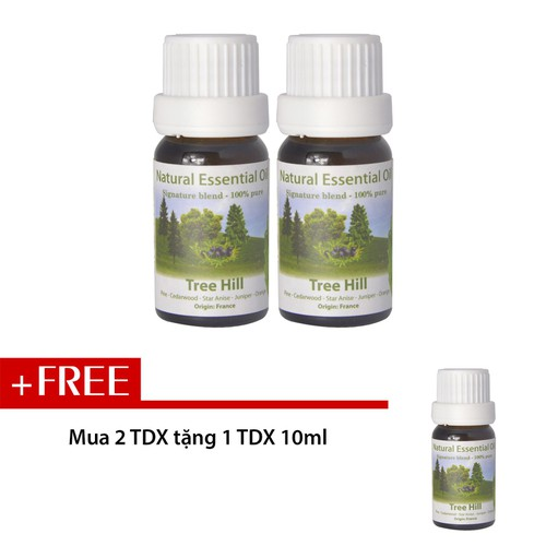 Combo 2 chai tinh dầu Aroma Đồi cây - Tree Hill 10ml