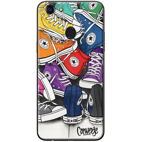 Ốp lưng nhựa dẻo Oppo F5 Giày nhiều màu