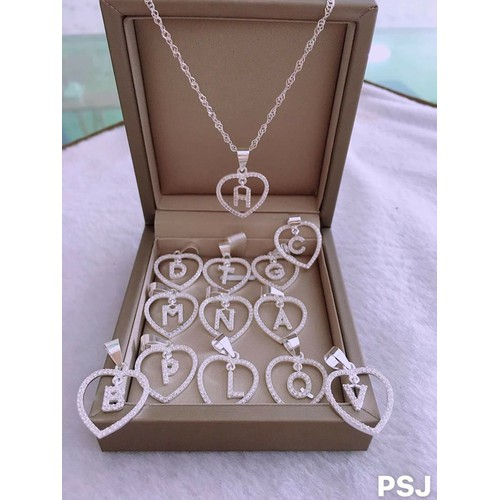 dây chuyền bạc nữ mặt chữ trái tim