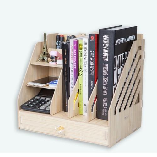 Kệ sách để bàn- kệ sách gỗ