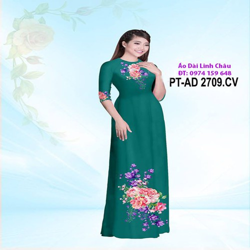 Vải Áo Dài 3D Hoa