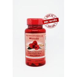 Thực phẩm chức năng cao cấp hỗ trợ giảm cân Raspberry, Bean 600mg 60v