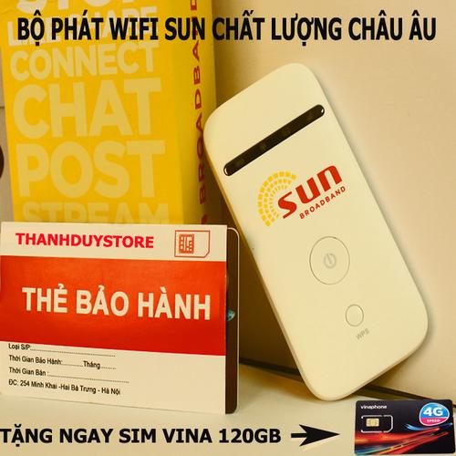 Bộ Phát Sóng Wifi 3G 4G - SUN Tốc độ Băng Thông - Tặng Sim Vina 120GB - 4152066 , 10293332 , 15_10293332 , 690000 , Bo-Phat-Song-Wifi-3G-4G-SUN-Toc-do-Bang-Thong-Tang-Sim-Vina-120GB-15_10293332 , sendo.vn , Bộ Phát Sóng Wifi 3G 4G - SUN Tốc độ Băng Thông - Tặng Sim Vina 120GB