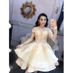 Đầm xoè dạ hội công chúa