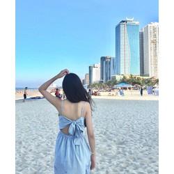Đầm Suông Caro Nơ Lưng Đủ Màu