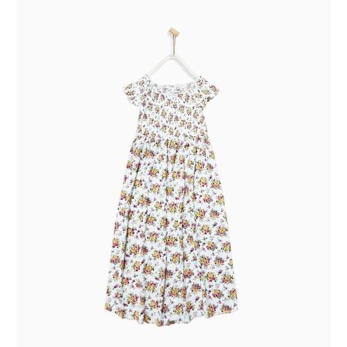 Đầm maxi vải hoa ZaraGirls cho bé gái 5-14T D105