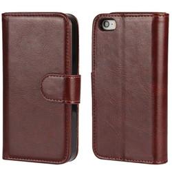 Ốp lưng giả da Tặng 1 bao điện thoại ví tiền dùng cho iPhone 7 nâu