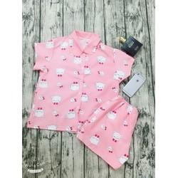 Pijama Thái Mềm Mịn KITTY HỒNG XINH IU HÌNH THẬT