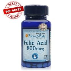 Folic Acid - ngăn ngừa thiếu máu cho bà bầu Folic Axit 800mcg - 2843VP