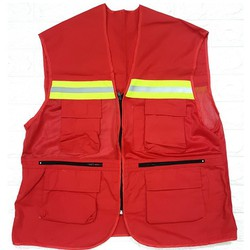Áo ghi lê bảo hộ H10 - màu đỏ