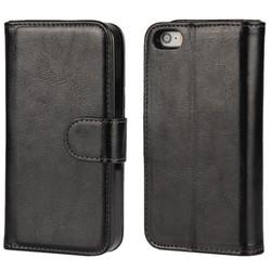 Ốp lưng giả da Tặng 1 bao điện thoại ví tiền dùng cho iPhone 7 đen