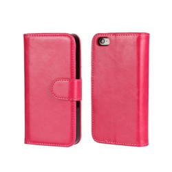 Ốp lưng giả da Tặng 1 bao điện thoại ví tiền dùng cho iPhone 7 hồng