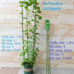 Set 3 bộ giá đỡ hoa hồng, hoa leo đa năng kích thước cao 150cm, ĐK 30cm