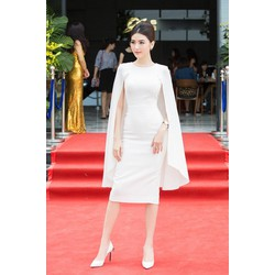 Đầm công sở áo choàng quý phái - Size M, L, XL