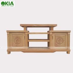 Kệ Tivi gỗ sồi màu tự nhiên mẫu 1