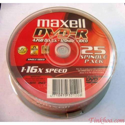 Đĩa trắng DVD  MAXEL HÔP TRÒN 10 CÁI .