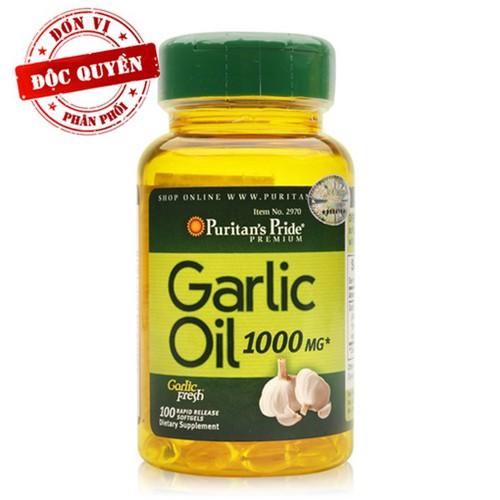 Thực phẩm chức năng cao cấp dầu tỏi phòng cảm Garlic Oil 1000mg 100 v