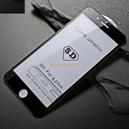 Cường Lực 5D Full Màn Hình Iphone 8 Plus Trắng