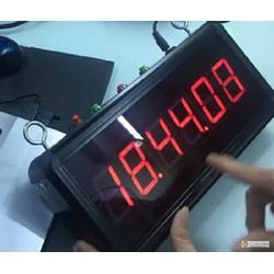 Đồng hồ treo tường Giờ : Phút : Giây - Báo thức - Đa năng SMD