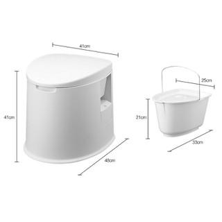Toilet, bồn cầu di động, chất liệu nhựa an toàn, hợp vệ sinh, hàng nhập khẩu, phù hợp cho người cao tuổi, người bệnh [ĐƯỢC KIỂM HÀNG] 12105390 - 12105390 thumbnail