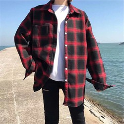 áo khoác caro  cổ trụ