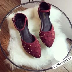 giầy búp bê đinh tán có quai dễ mang êm chân