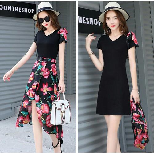 Set đầm ôm đen váy hoa tulip - 4160690 , 10306369 , 15_10306369 , 280000 , Set-dam-om-den-vay-hoa-tulip-15_10306369 , sendo.vn , Set đầm ôm đen váy hoa tulip