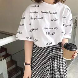 T-shirt in chữ