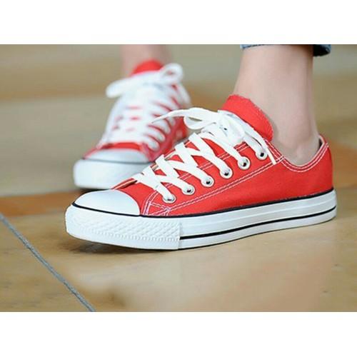 Giày Nữ Cổ Thấp Classic màu đỏ tươi