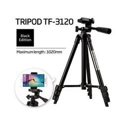Gậy 3 chân đỡ máy ảnh điện thoại Tripod TF - 3120 loại tốt Tặng kèm remote chụp hình