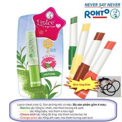 Son dưỡng Lip ice Sheer Color Q 01.matcha 02.candy 03.choco 04.orange
