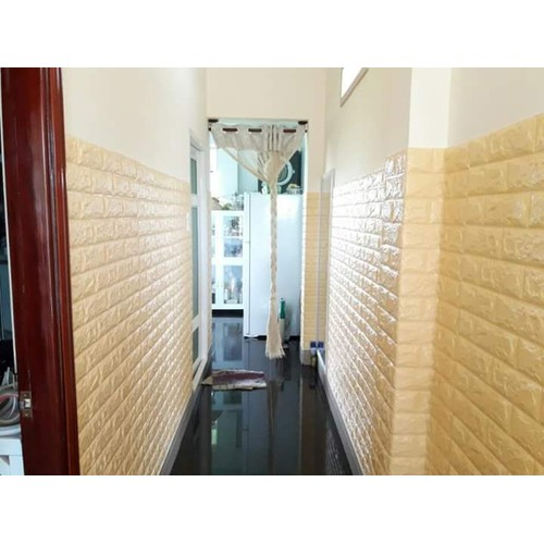 Xốp dán tường 3d màu vàng