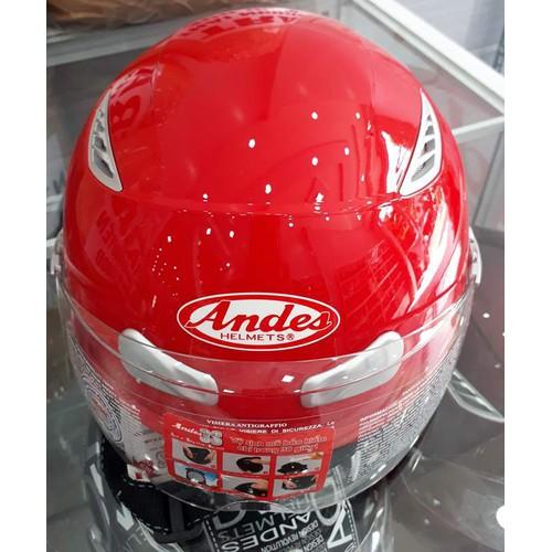 Nón bảo hiểm Andes kính đỏ