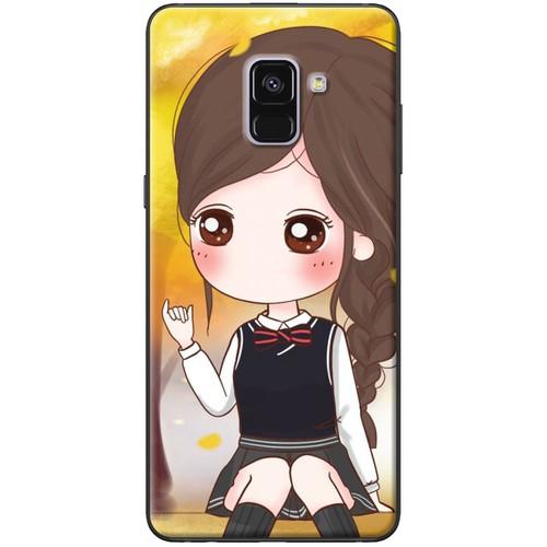 Ốp lưng nhựa dẻo Samsung A8 2018 Nữ học sinh