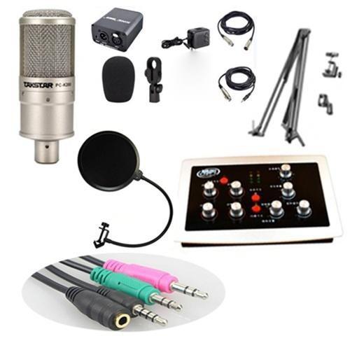 COMBO MICRO K200 - SOUND CARD HF-5000 PRO trọn bộ hát KARAOKE online