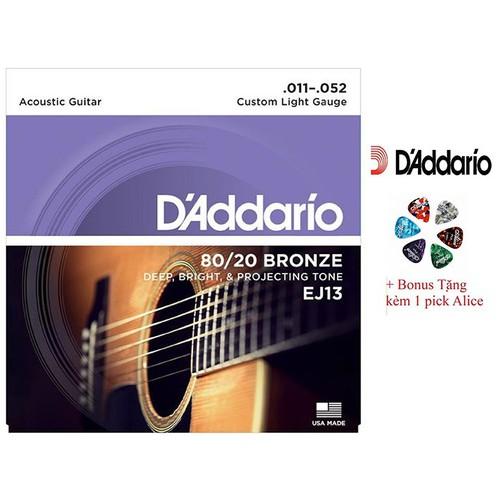 Dây Đàn Guitar Acoustic D'Addario EJ13 Của Mỹ - 4173758 , 10325178 , 15_10325178 , 172000 , Day-Dan-Guitar-Acoustic-DAddario-EJ13-Cua-My-15_10325178 , sendo.vn , Dây Đàn Guitar Acoustic D'Addario EJ13 Của Mỹ